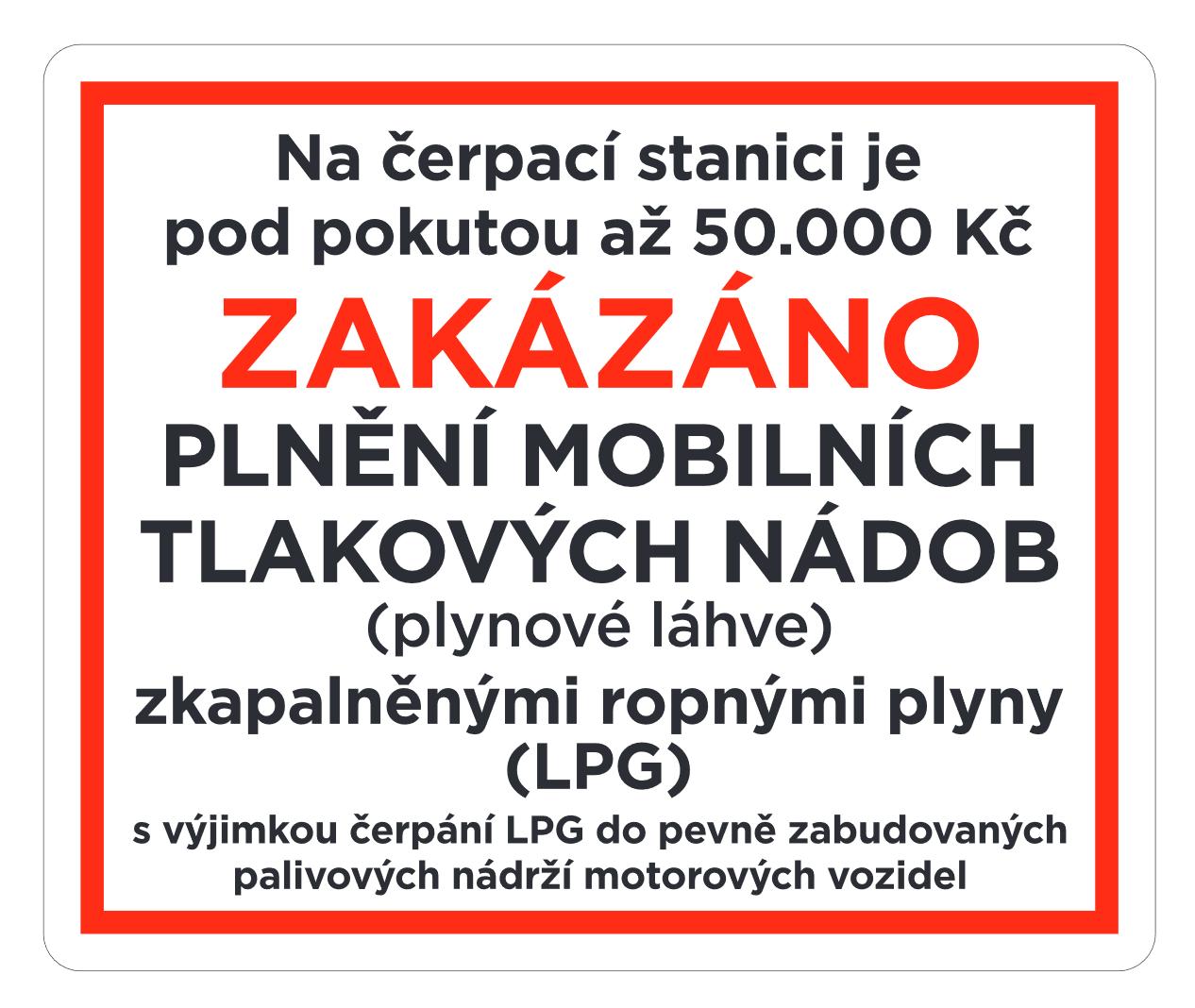 Plnění plynu do mobilních tlakových nádob je zakázáno