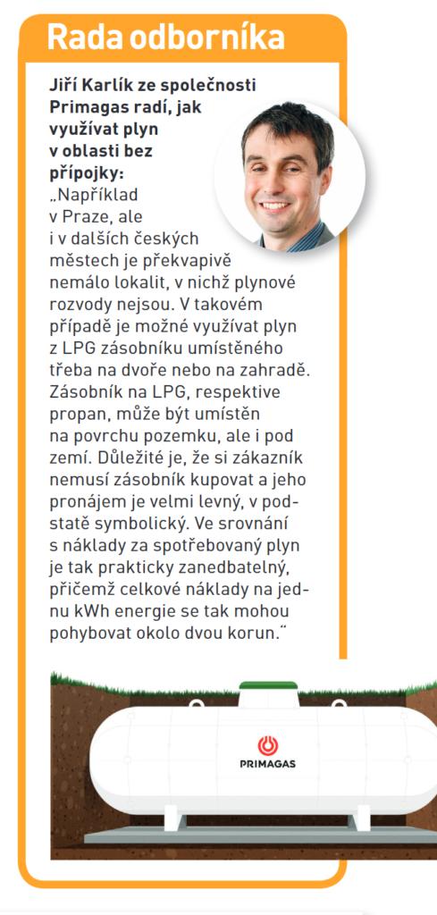 Propanový zásobník, LPG